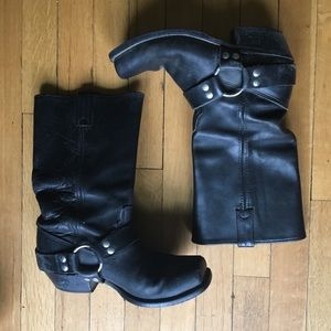 Double H Ranch Genuine Real Leather Harness Boots